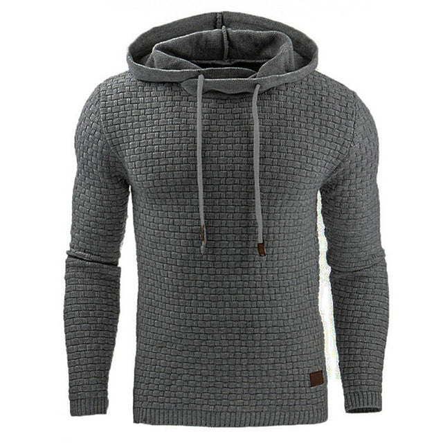 Men's Textured Urban Hoodie - HEATHLEAF