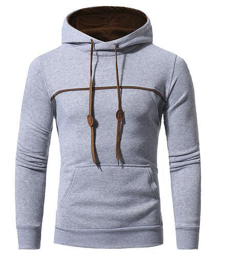 Casual Winter Fashion Gray Hoodie Soft & Warm Mens Hoodie Light Gray