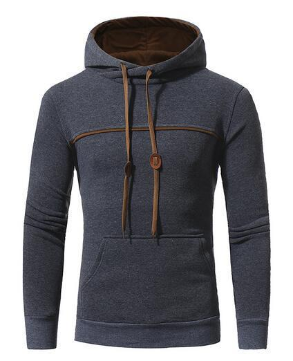 Men's 2018 Relaxed Gray Hoodie - HEATHLEAF