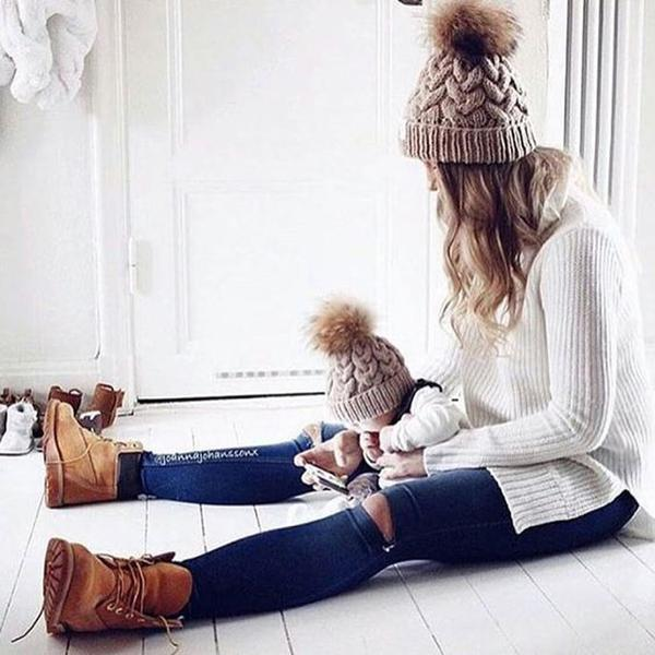 Matching Mommy and Me Winter Hats - HEATHLEAF