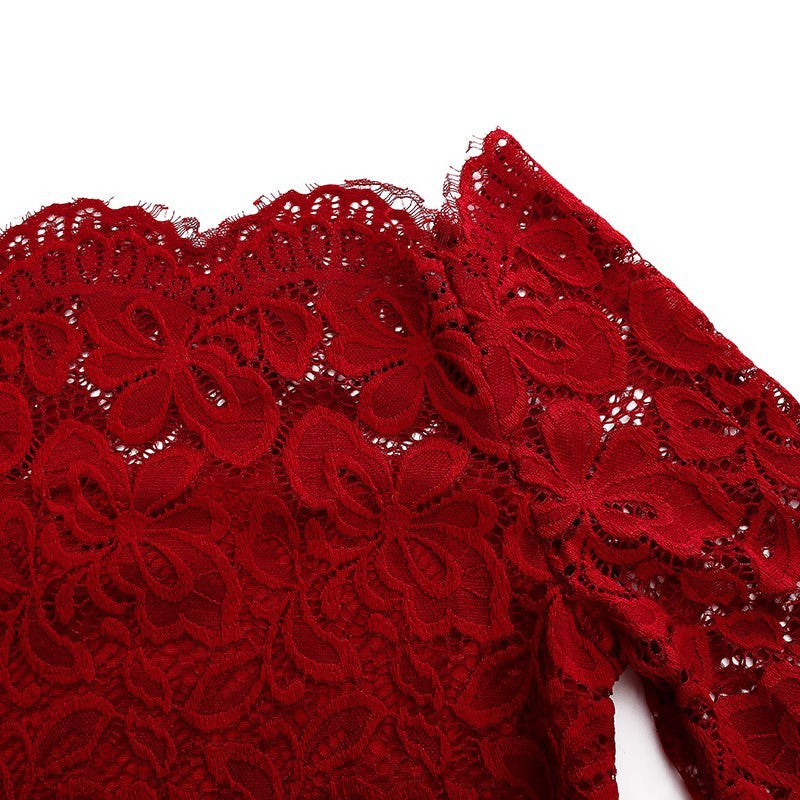 Date Night Off Shoulder Floral Lace Blouse