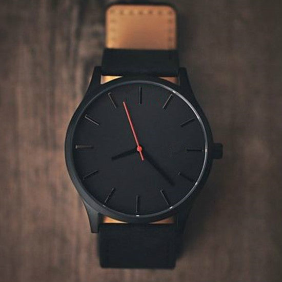 Men's Minimalist Designer Tan Watch - HEATHLEAF