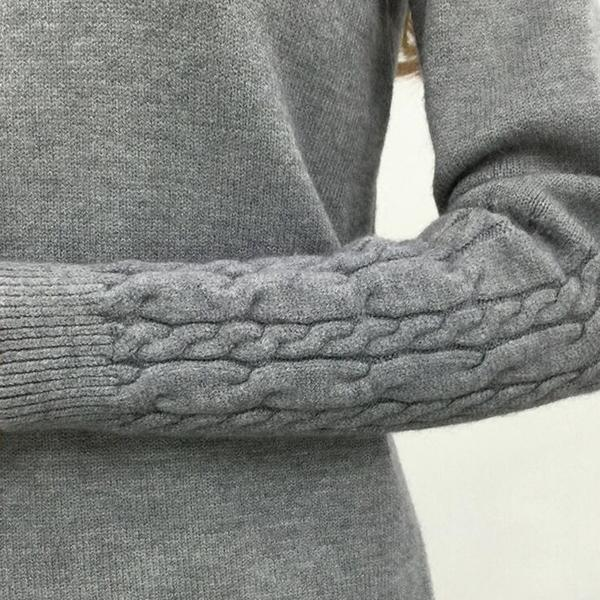 Winter Knitted Turtleneck Sweater Long Sleeve Pullover Sleeve