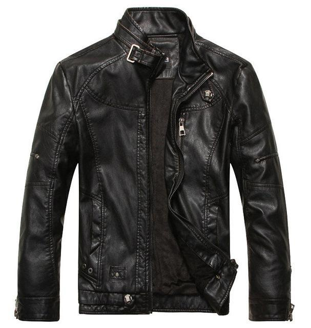 Brand New 2018 Men's Motorcycle Leather Jacket Black