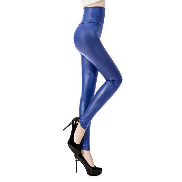 Sexy Faux Leather High Waist Leggings