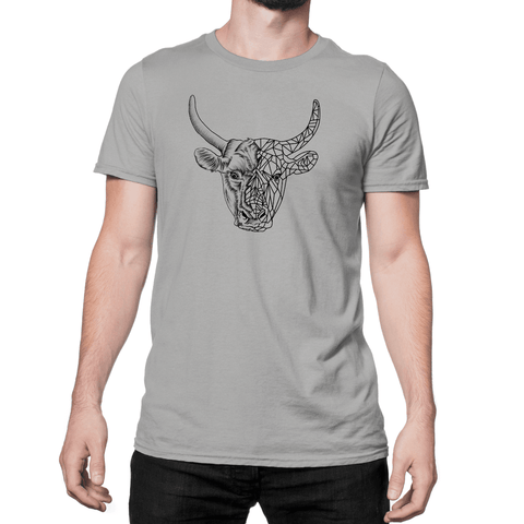 Clear Bull Head - Unisex T-Shirt - HeathLeaf