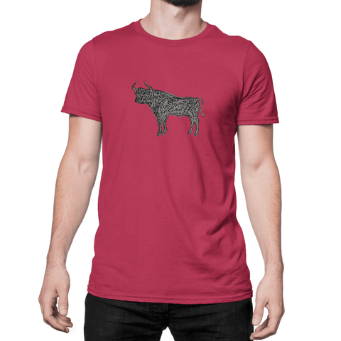 Gray Bull - Unisex T-Shirt - HeathLeaf