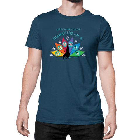 Diamond Peacock - Unisex T-Shirt - HeathLeaf
