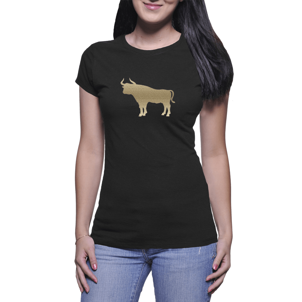 Tan Bull - Women's T-Shirt - HeathLeaf