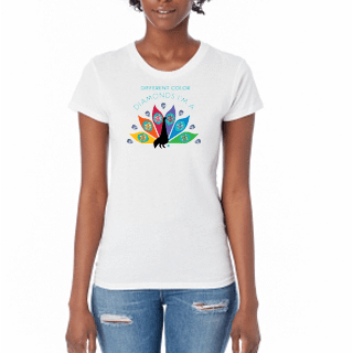 Diamond Peacock - Women's T-Shirt - HeathLeaf