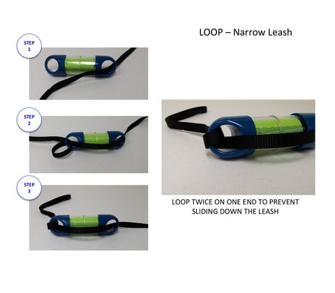 Attach to narrow leash
