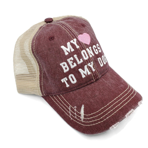 Truckers Hat-My ♥️ Belongs to my Dog