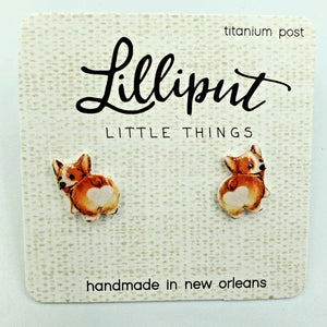 Lilliput Earrings-Corgi Butt