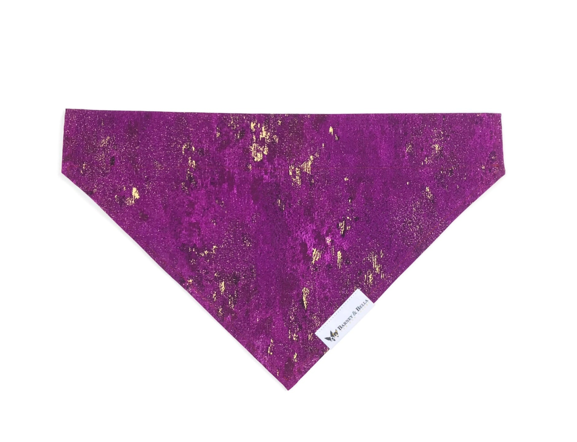 Slip-On Bandanna-Purple & Gold