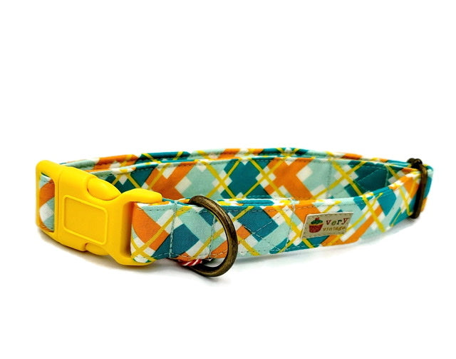 "Organic Cotton Collar in ""Sunshine Plaid"""