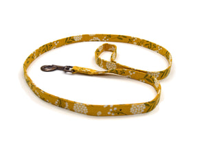 "Organic Cotton Leash in ""Marigold Fields"""