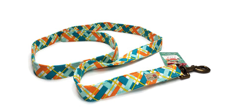 "Organic Cotton Leash in ""Sunshine Plaid"""