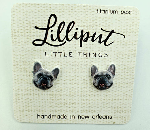 Lilliput Earrings-French Bulldog