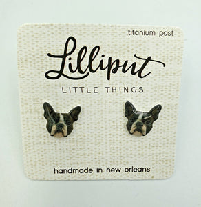 Lilliput Earrings-Boston Terrier