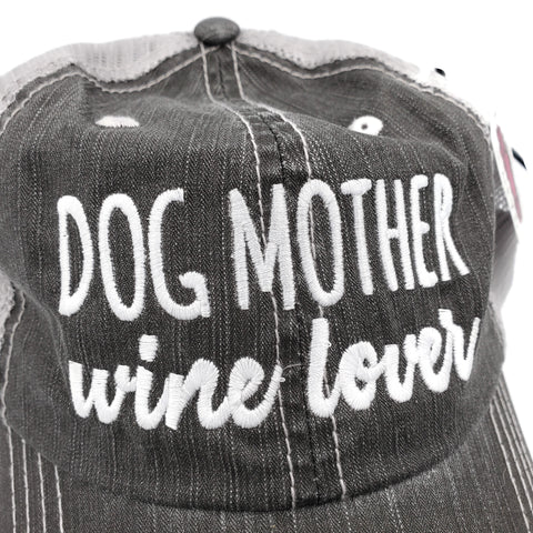 Truckers Hat-Dog Mother, Wine Lover