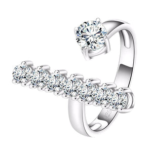 Engagement Ring with Round Cut AAA Austrian Cubic Zircon - Nickel Free, Anti-Allergy