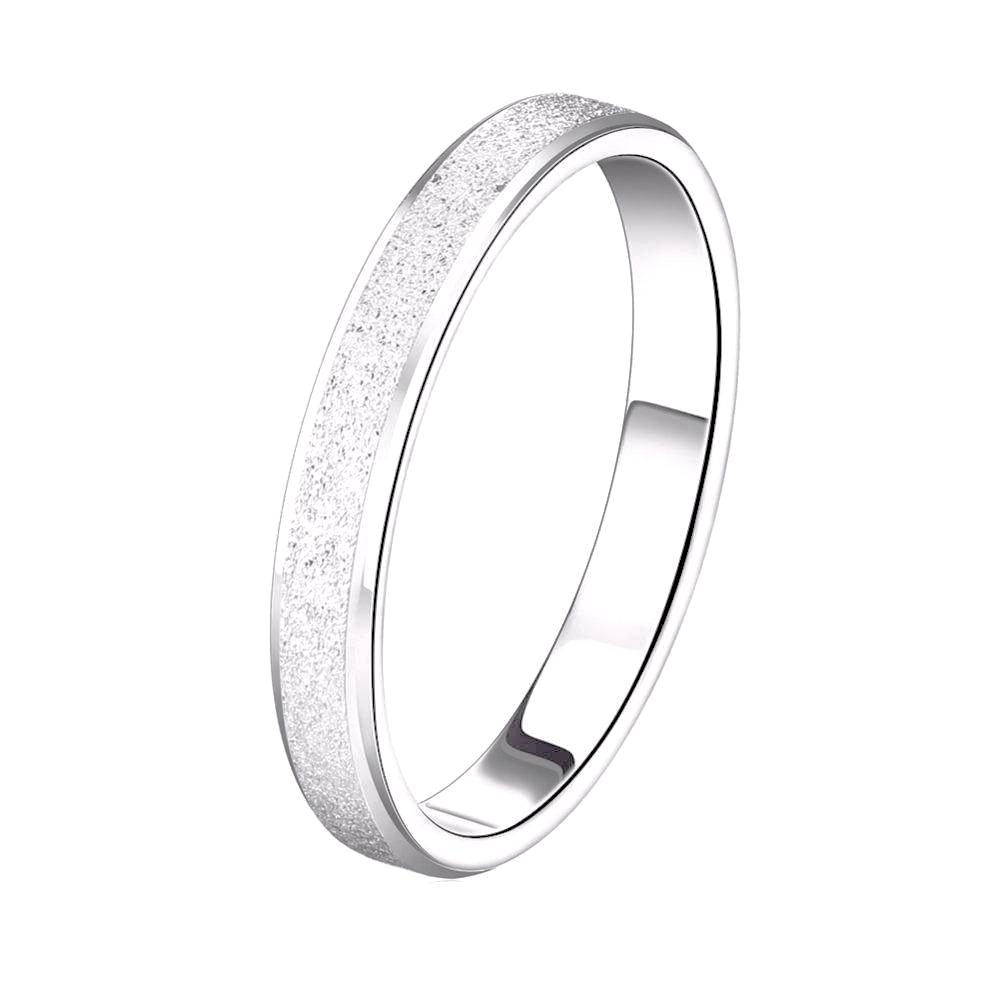 Wedding Band All Frosted Surface - Lead & Nickel Free, Anti-Allergy