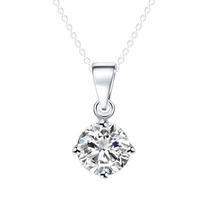LUXE SPECIAL PROMO Elegant Round Cut Cubic Zircon Pendant Necklace - Silver Color or Gold Color