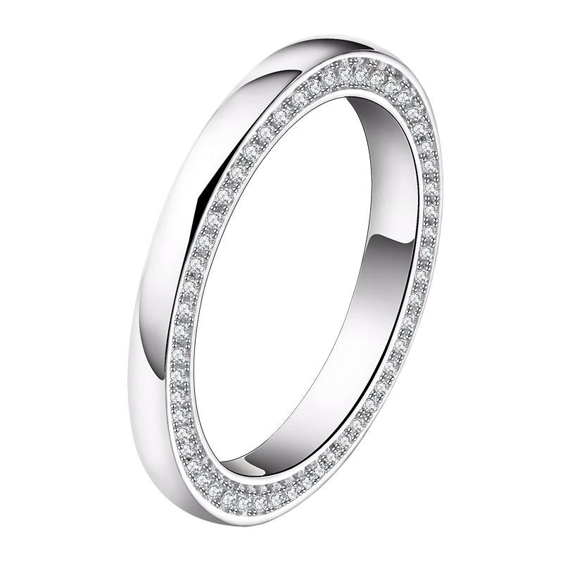Wedding Band with 118 Pieces AAA Austrian Zircon - Nickel Free, Anti-Allergy