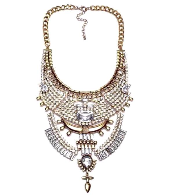 Boho Vintage Crystal Collar Necklace - Four Styles