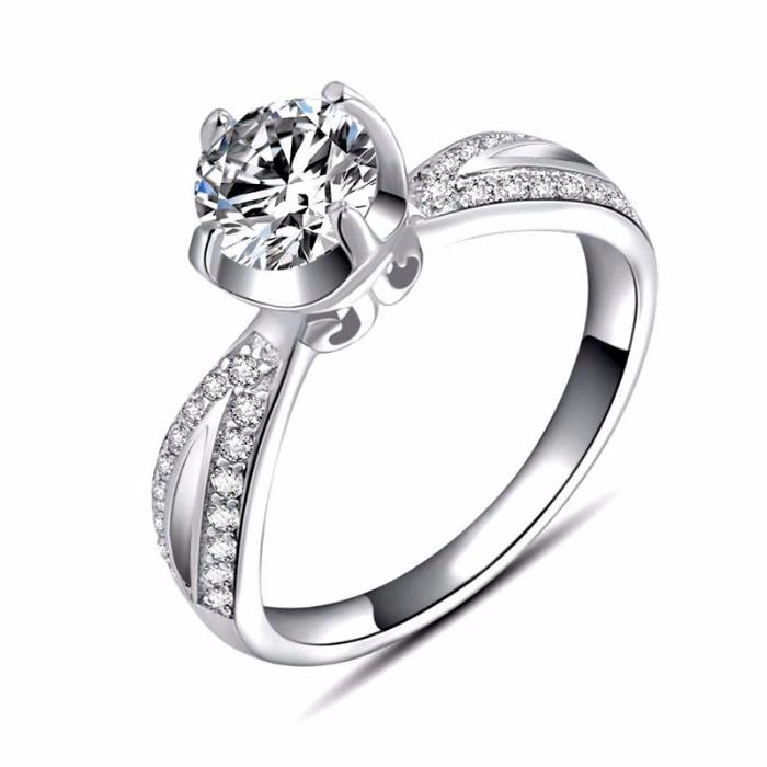 Wedding Ring With Round Cut 1.5 Carat AAA Austrian Cubic Zircon - Nickel Free, Anti-Allergy