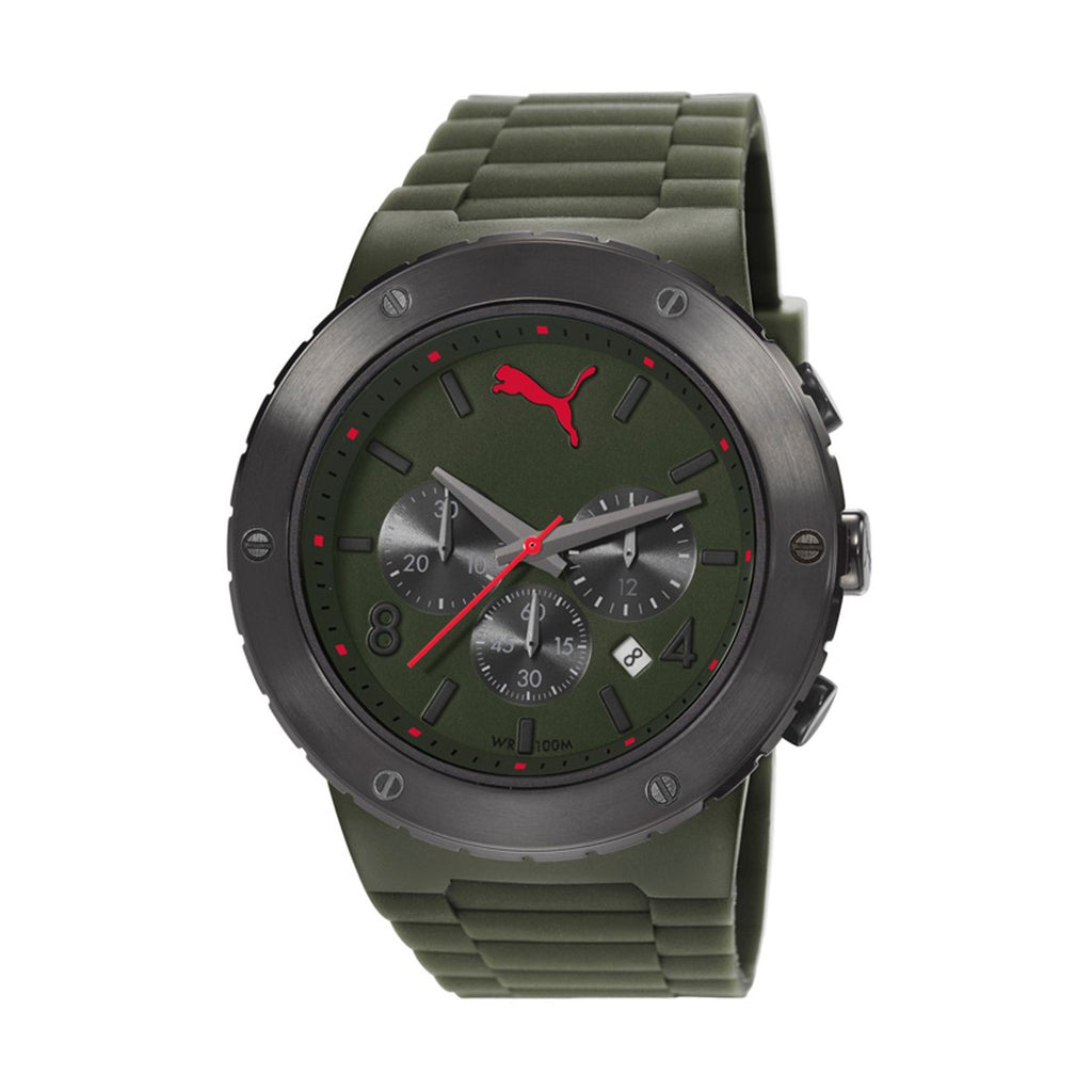 Puma PU103701003 Blast Mens's Chronograph Green Dial Quartz Watch
