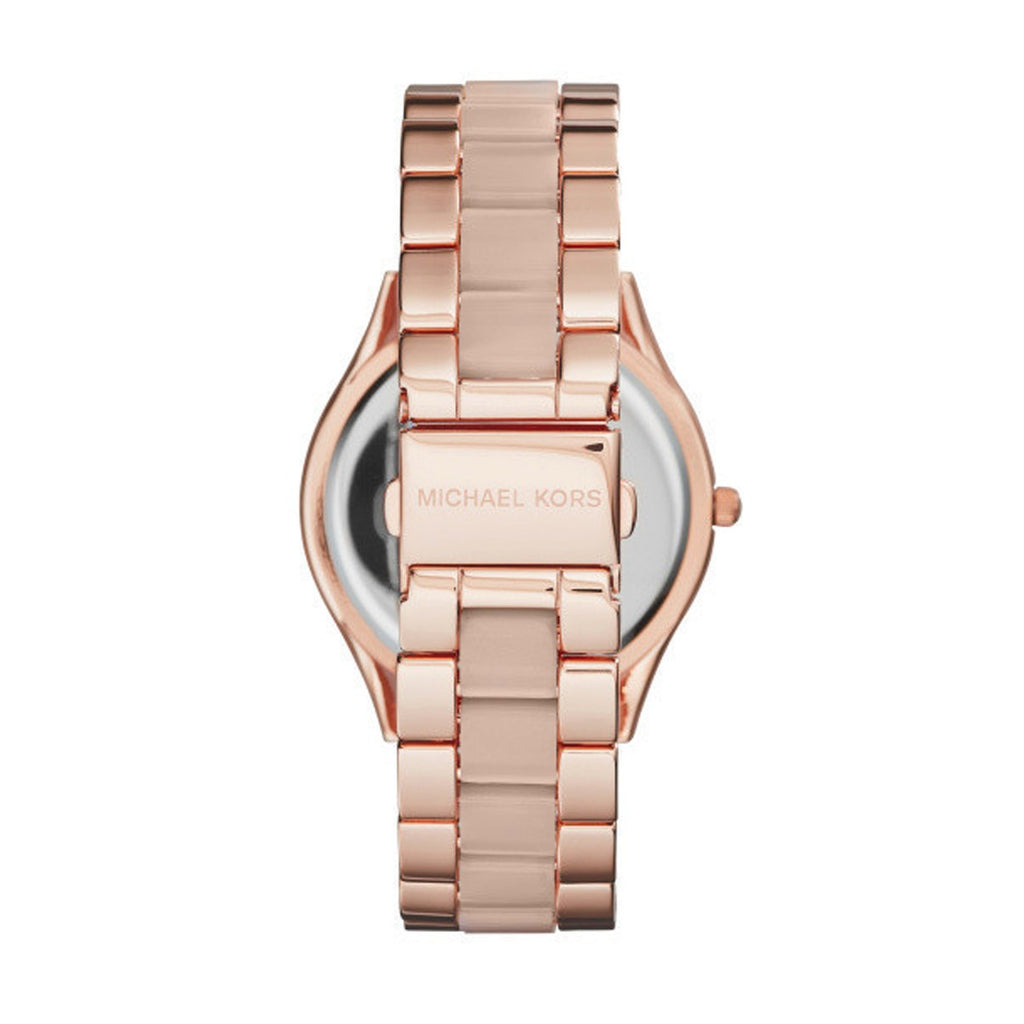 Michael Kors MK4294 Ladies Runway Slim Rose Tone Stainless Steel Watch