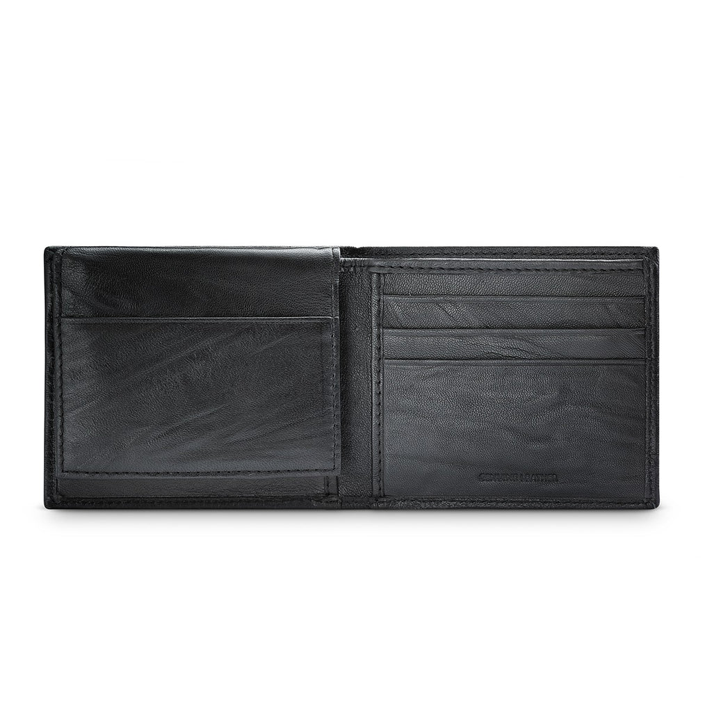 APT.9 31AN22X006 Men's Black Leather Passcase Bifold Wallet