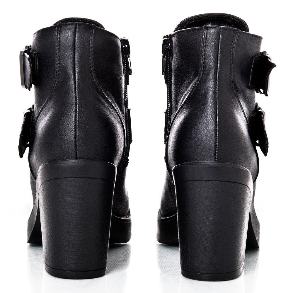 43120a2f604 Medium Block Heel Platform Ankle Boot With Side Zip - MIMO DEALS