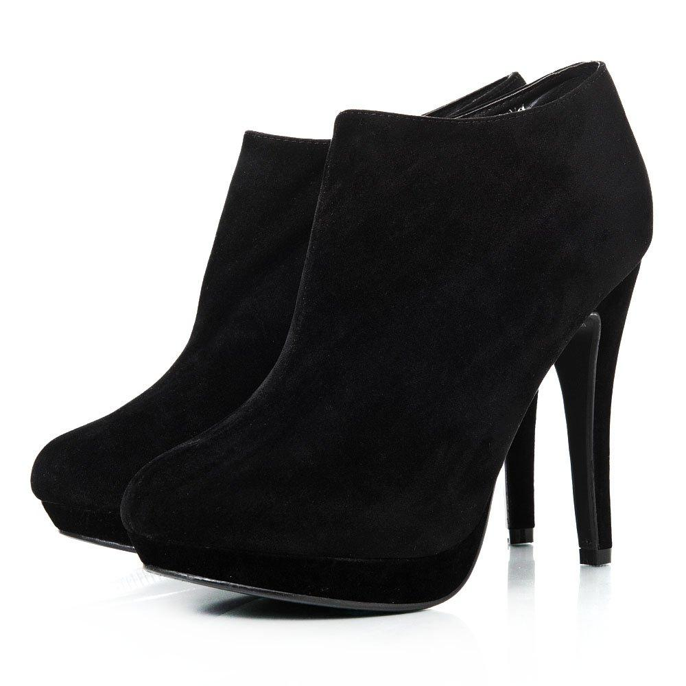 Platform Pointy Toe High Stiletto Heeled Ankle Shoe Boot