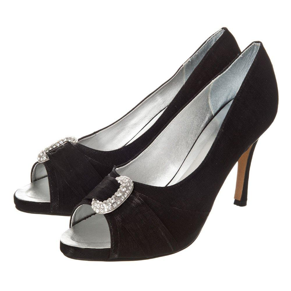 Medium Heel Open Toe Shoe With Concealed Platform