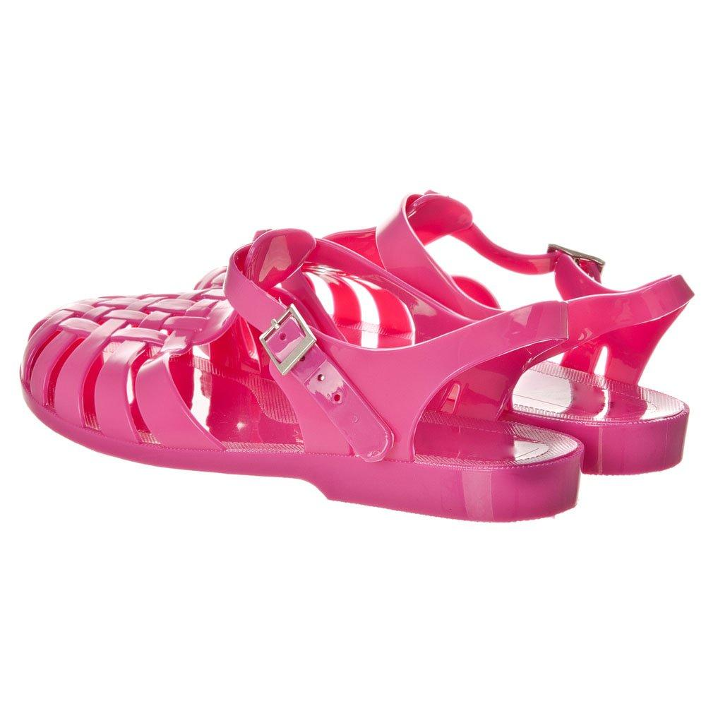 Flat Cleated Sole T-Bar Jelly Sandal
