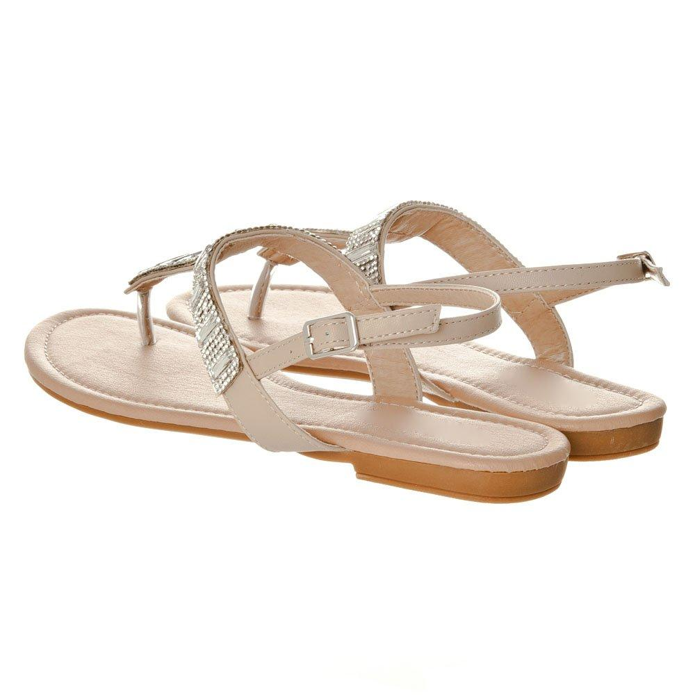 Flat T-Bar Sandal With Toe Post