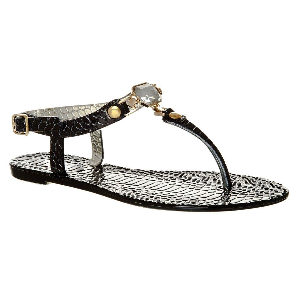 FLAT Toe Post Sandals With  T-Bar
