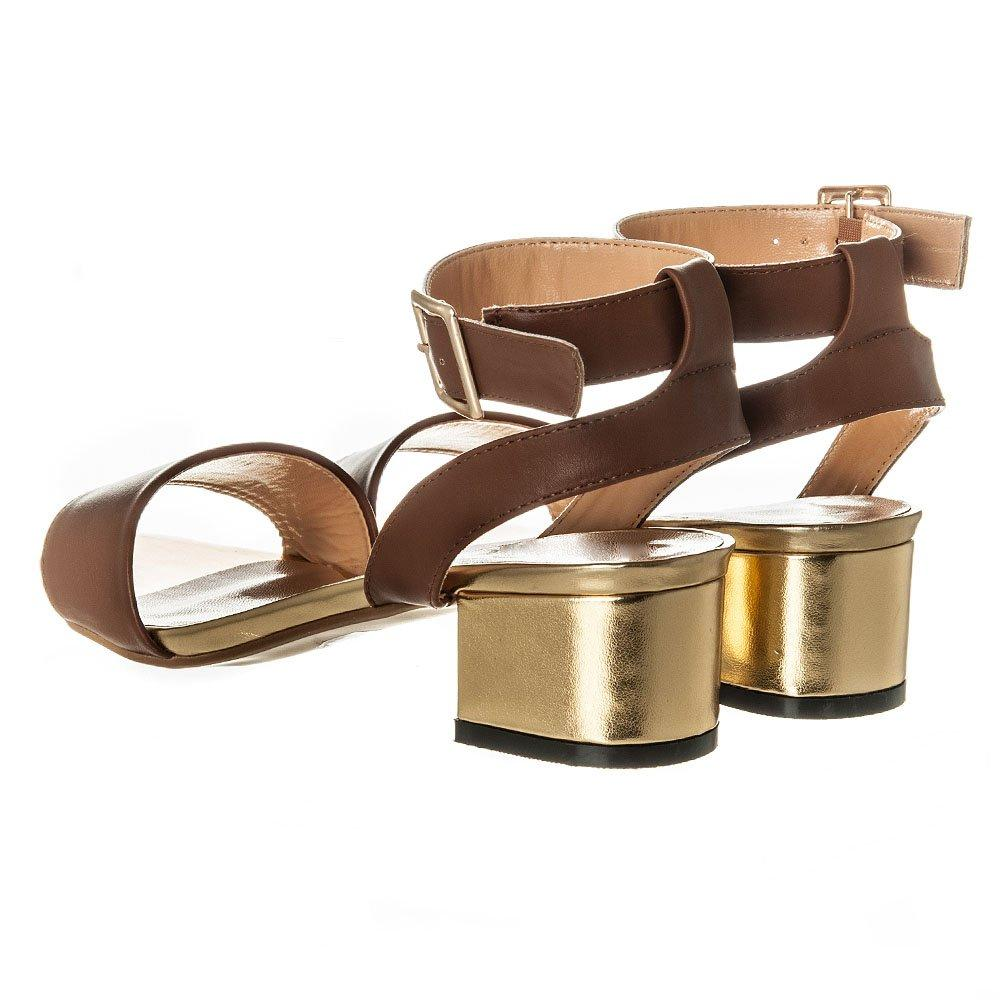 Low Heel Ankle Strap Sandal With Buckle on Silde