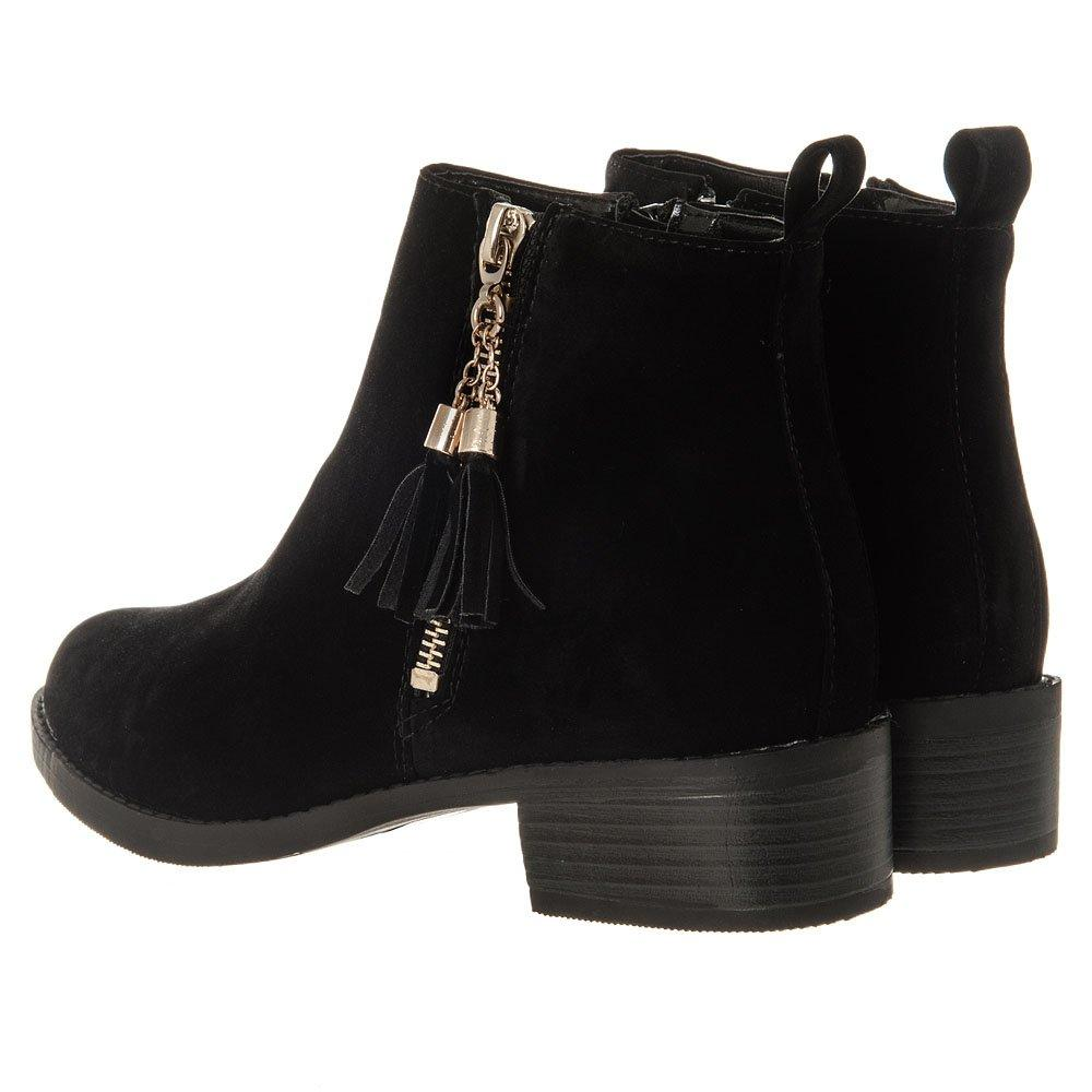 Low Heel Rubber Sole Desert Style Suede Ankle Boot
