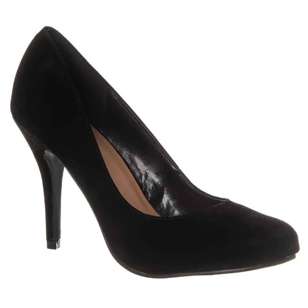 High Heel Gently Curved Toe Court Shoe