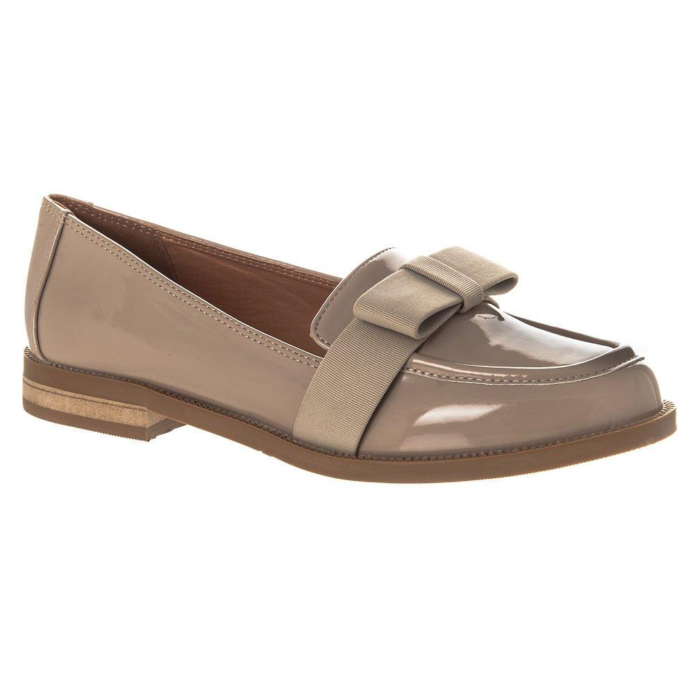 Flat Block Heel Classic Loafer Fabric Bow