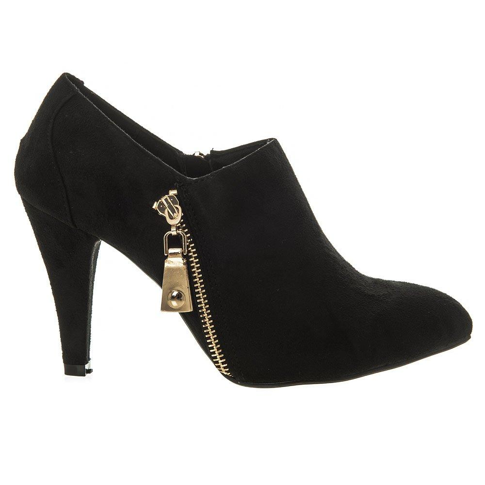 Medium Heel Soft curved toe High Front Shoe Boot.