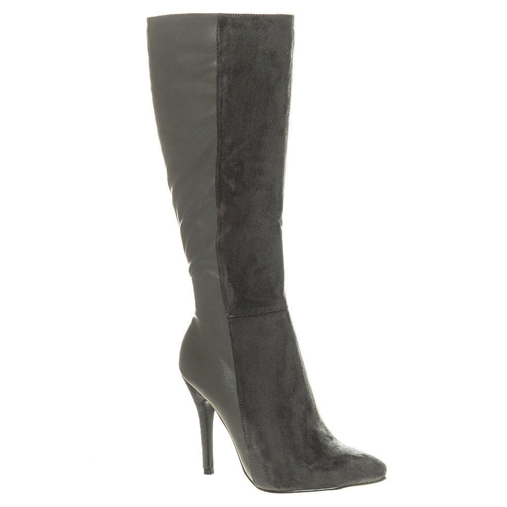 Pointed High Heel  Knee High Boot Full Zip