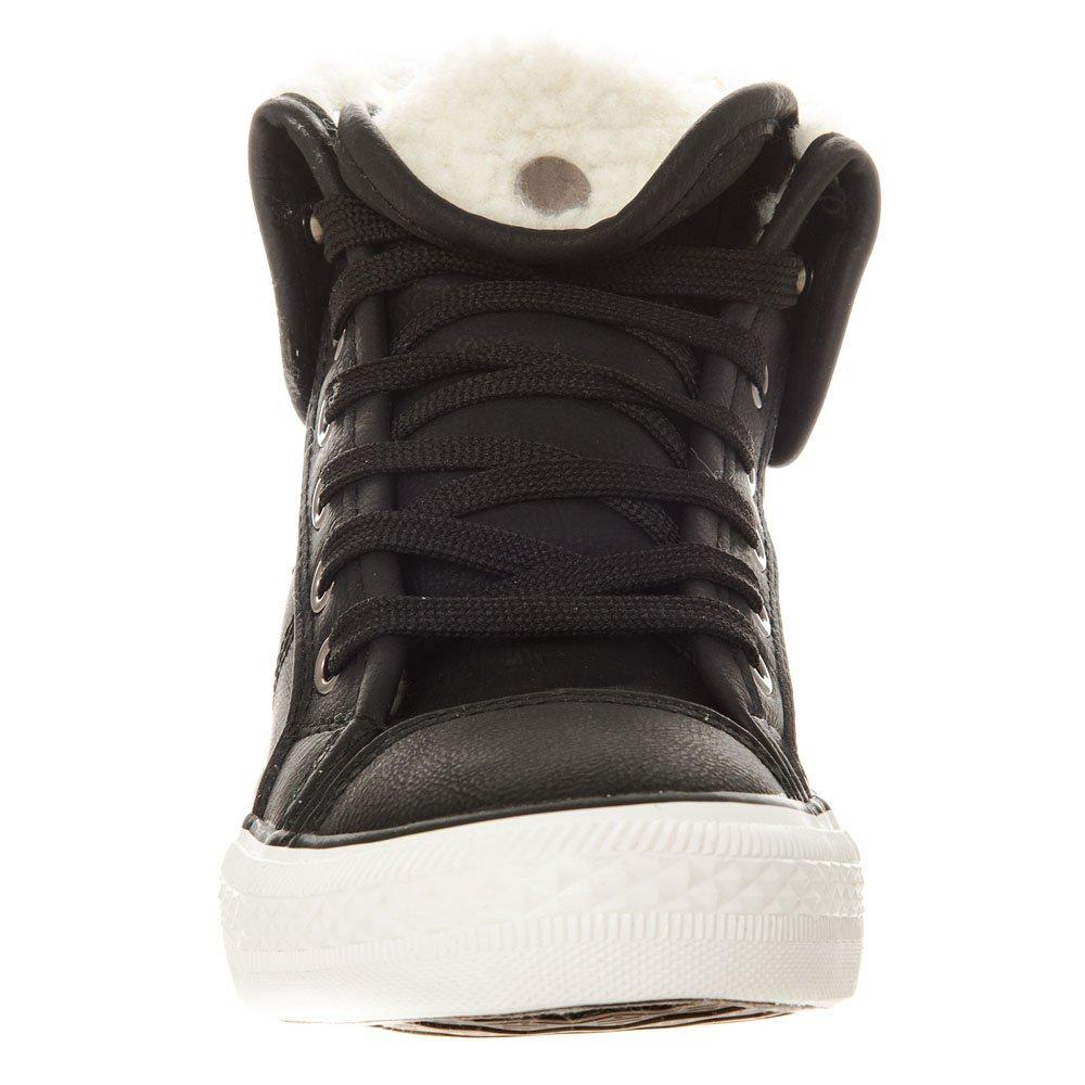 Lace Up Trainer Boot With Fir Ankle Trim And Lining