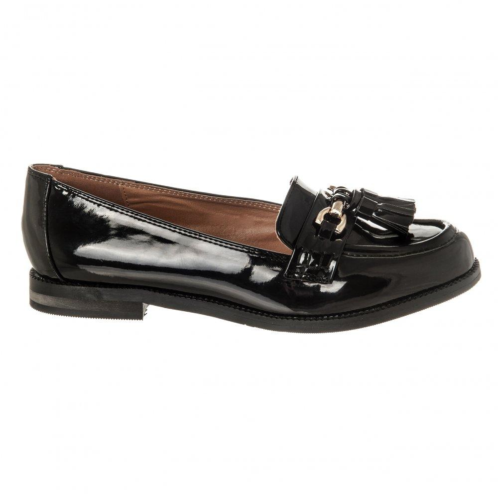 Lois Low Block Heel Snaffle Loafer with Tassel