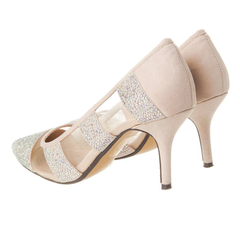 Medium Stiletto Heel Pointed-Toe Diamante Court Shoe
