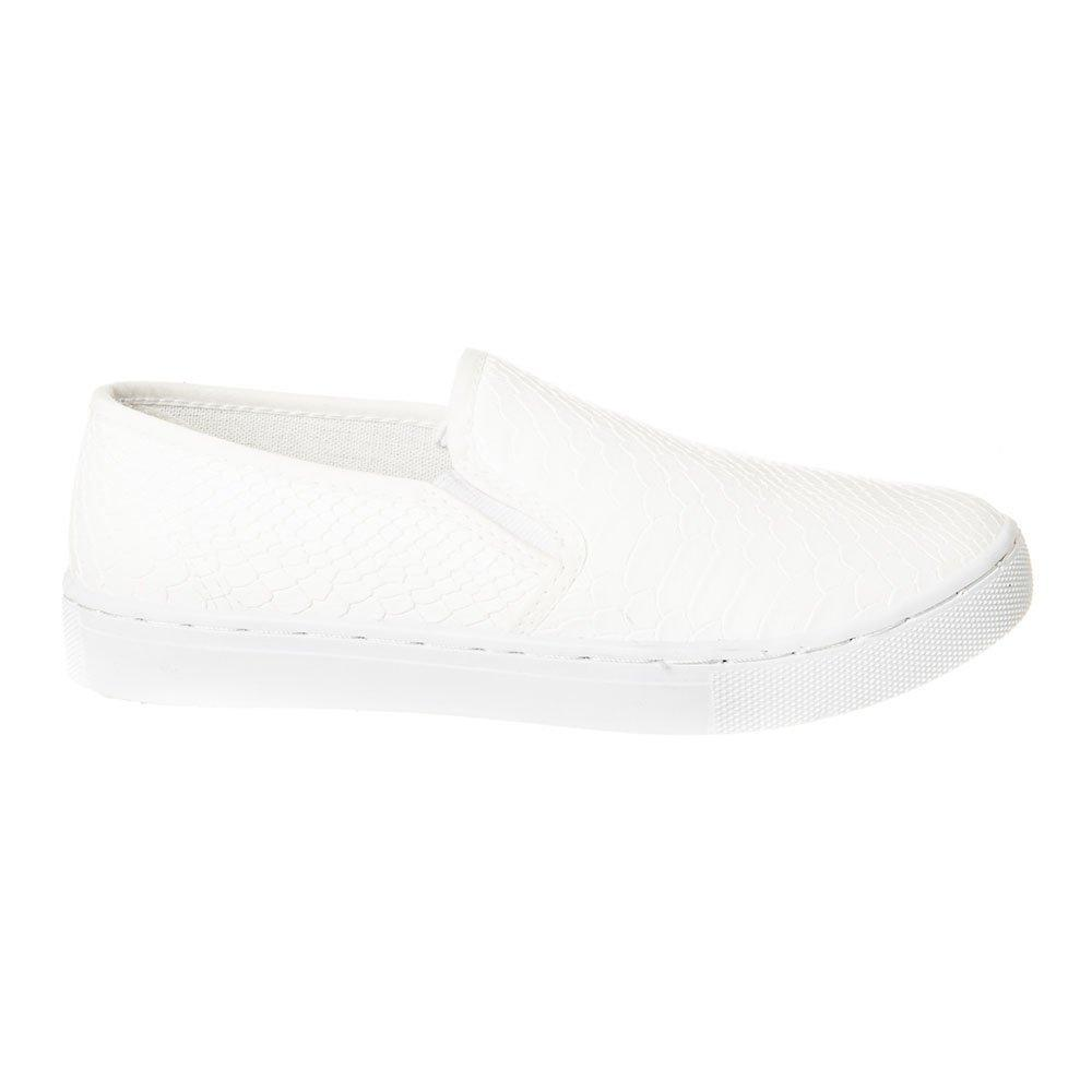 Flat Slip On Skater Shoe Elastic Gusset And Rubber Sole