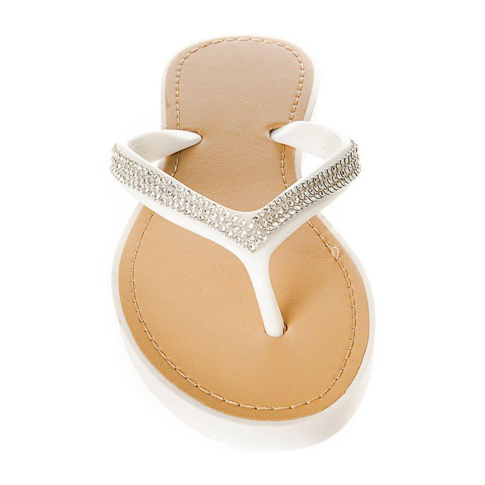 Slip On Jelly Toe-Post Diamante Flip- Flop
